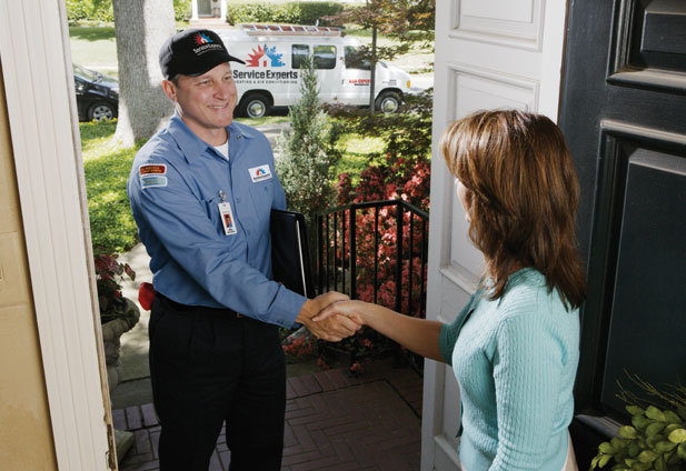 in-home estimate from Strogen's Service Experts Heating & Air Conditioning